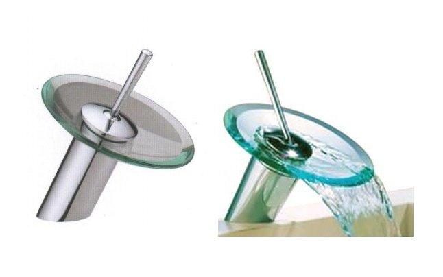 Ikasumoto Glass Waterfall Roman Faucet