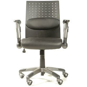 Leda Manager Leather Office Chair (Black)