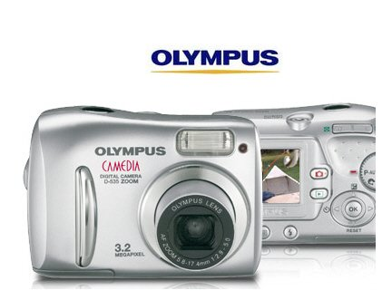 Olympus D535 Point and shoot Digital Camera - 3.2 Megapixel, 3x Optical Zoom & 12x total Zoom