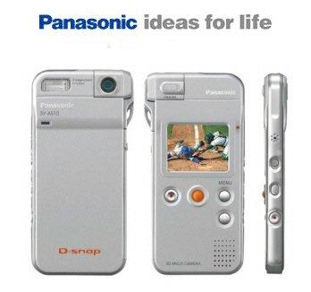 Panasonic SV-AS10S D-Snap Super-Slim Digital Camera with Rotating Lens