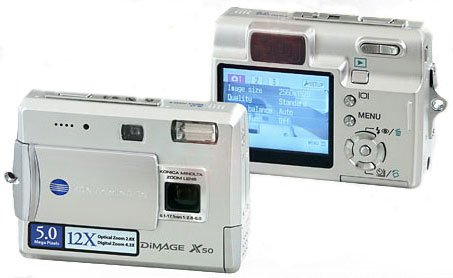 Konica-Minolta Dimage X50 Pocket Size - 5.4 Megapixel, 2.8x Optical/4.3x Digital Zoom Digital Camera
