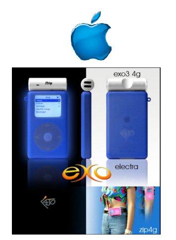 """Exo Ipod Mini Case """"Glows in the Dark"""" (Electra)"""