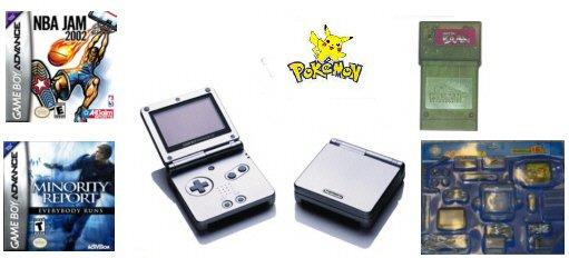 "Nintendo GameBoy Advance SP ""Super Bundle"" - 2 Games, Pokemon Editor + 15 Accessories"