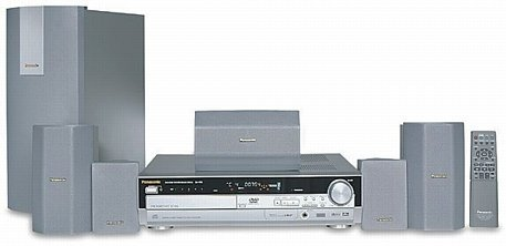 Panasonic SC-HT95 - 500 Watts Complete 7-Piece DVD Theater System with 5 Disc DVD/CD Changer