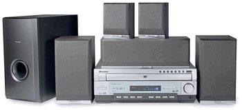 Pioneer HTD-510 - 400 Watts 5 Disc DVD Home Theater System
