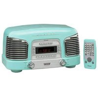 Teac SLD-90T Retro-Styled Digital AM/FM Clock Radio with CD Player and Remote (Turquoise)