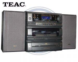 Teac Dcd6300 Mini Hi Fi System W 3 Speed Turntable Amp Dual