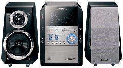 Panasonic SCPM29 140Watts 5-CD Changer CD/Cassette Micro System