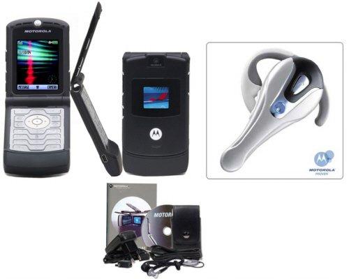 "Motorola ""European Limited Edition"" Razr V3 Slim Cellular Phone Bluetooth Combo (Unlocked)"
