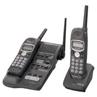 Panasonic KX-TG2382B 2.4GHz TripleTalk Expandable Cordless Phone System with Digital Answering Syste