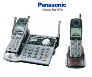 Panasonic KX-TG5572 - 5.8 GHz FHSS GigaRange Digital Cordless Phone System with Extra Handset and An
