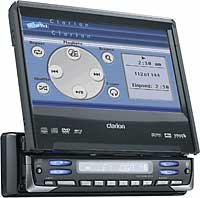 """Clarion ProAudio VRX755VD DVD/MP3 receiver with 7"""" LCD monitor"""