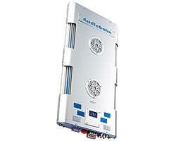Audiobahn A4801T A/B MOSFET 4 X 250 WATTS RMS W/ BLUE DIGITAL VOLT METER & FLAME
