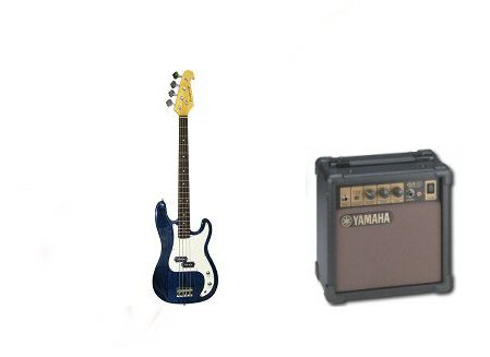 Bridgecraft Electric Guitar with Amplifier Package (Black)