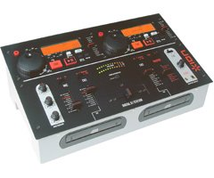ICD02 Pro DJ Mixer with Dual Integrated CD Players