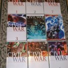 Civil War #1-7 Complete Set including 3 versions of #3