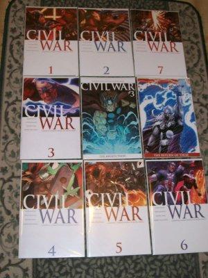 Civil War #1-7 Complete Set including 3 versions of #3