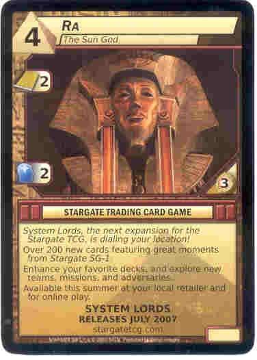 Stargate CCG RA Promo Card