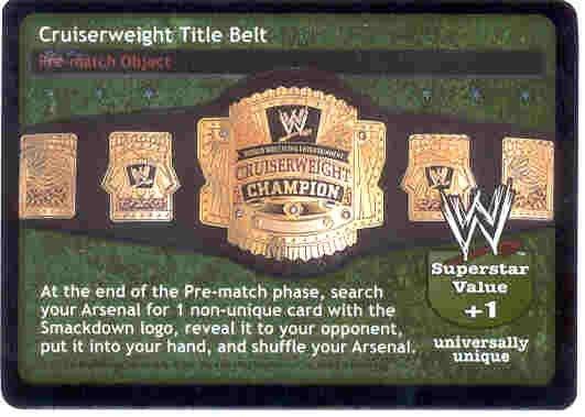 Raw Deal Cruiserweight Foil Title Belt