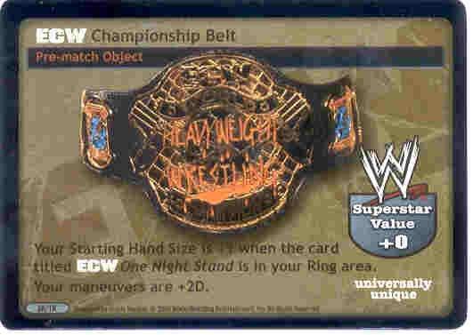Raw Deal ECW Championship Belt Foil 28/TK
