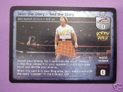Raw Deal Seen the Glory - Told the Story Ultra-rare foil