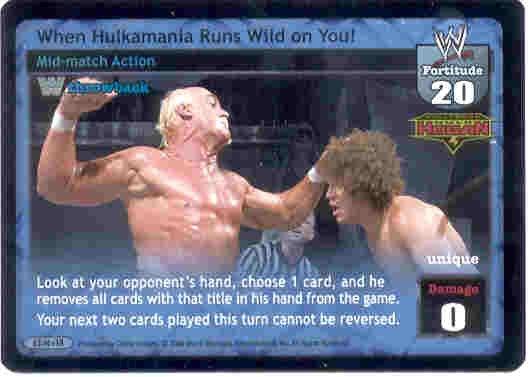 Raw Deal When Hulkamania Runs Wild on You Foil TB