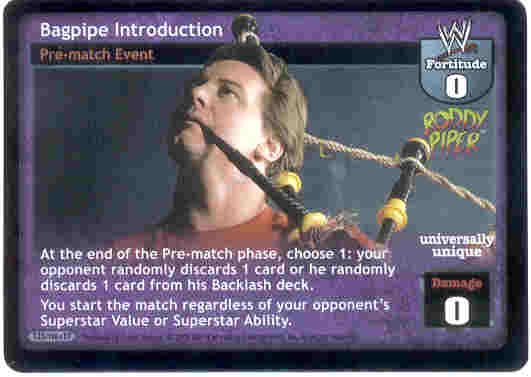 Raw Deal Bagpipe Introduction Ultra-rare Foil