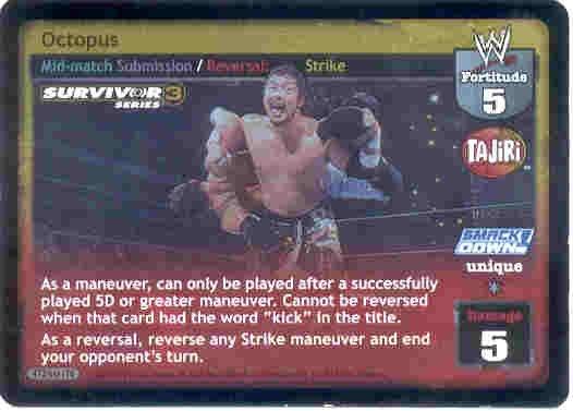 Raw Deal Octopus Ultra-rare Foil SS3