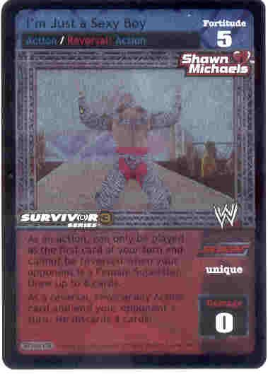 Raw Deal I'm Just a Sexy Boy SS3 Utra-rare Foil