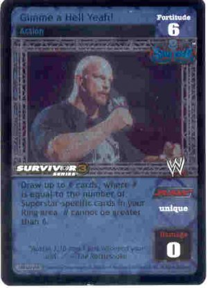 Raw Deal Gimme a Hell Yeah SS3 Ultra-rare Foil