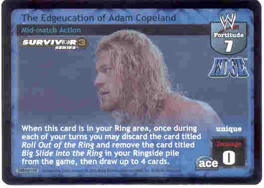 Raw Deal The Edgeucation of Adam Copeland SS3 Foil
