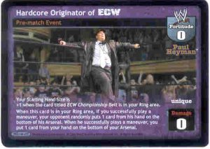 Raw Deal Hardcore Originator of ECW Ultra-rare Foil