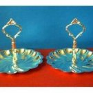 2 SILVERPLATE BON BON CANDY SERVERS LOT