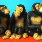 3 CUTE MONKEYS APES CHIMPS WEIRD GAG GIFT