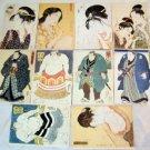 10 RARE  UNUSED JAPANESE POSTCARD, SUMO GEISHA LOT