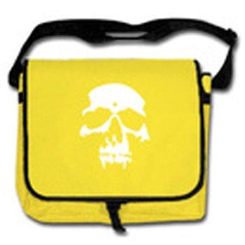 Men's yellow/black skull Messenger Bag