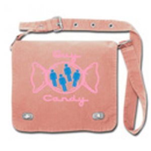 "Front flap Tag Bag ""guy candy""  pink"