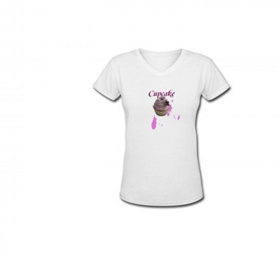 """""""Cupcake"""" Ladies V-neck T shirt"""