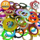 WildBot 3D - Dungeon & Dragons Condition Marker Rings for DnD Miniatures (Full 77 Piece Set)