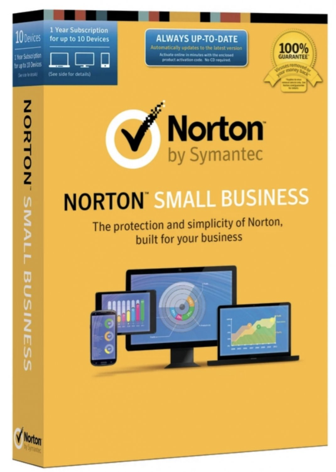 Read carefully!! Antivirus Norton Small Business Edition 1 year 10 devices