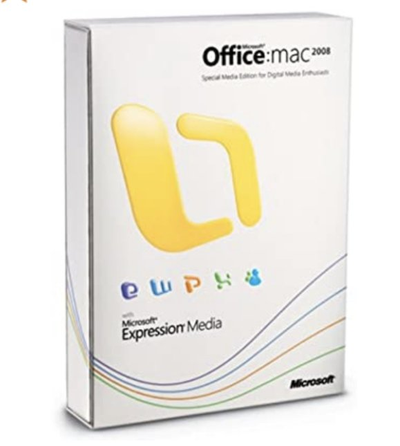 Read carefully! Office Mac 2008 Special Media Edition English for 1 Mac