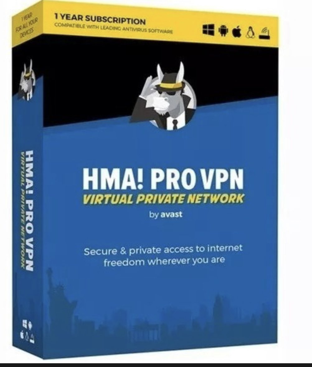 Read carefully! HMA VPN Pro 1 year up to 5 users active online .
