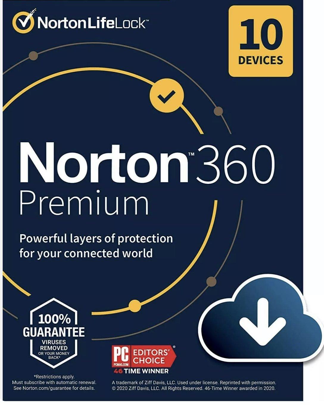 Sale Off! Read carefully! Norton 360 Premium Plus Antivirus 1 year 10 devices