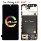 Original AMOLED Display For Galaxy A51 with frame A515F Mobile phone LCD Screen Replacement