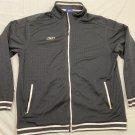 Reebok Mesh Full Zip Track Jacket Black Men's Size XL