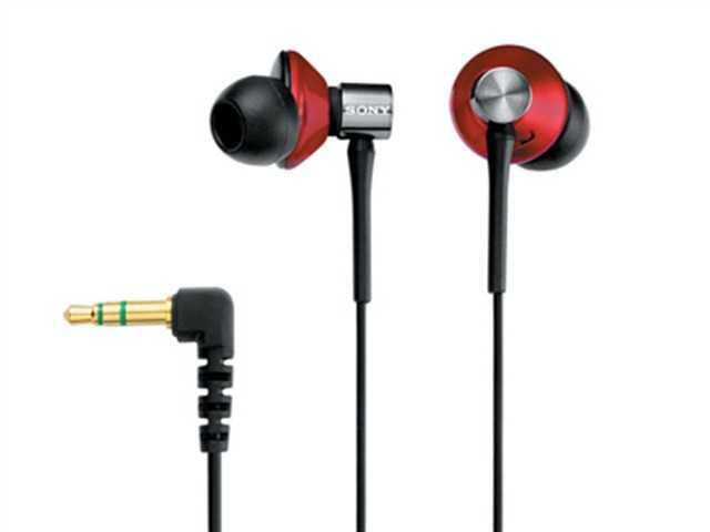 FREE SHIPPING -- BRAND NEW RED SONY EARPHONE MDR-EX85LP NOISE ISOATOIN BLACK RED