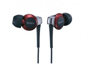 FREE SHIPPING -- BRAND NEW RED SONY EARPHONE MDR-EX300SL NOISE ISOATOIN BLACK RED