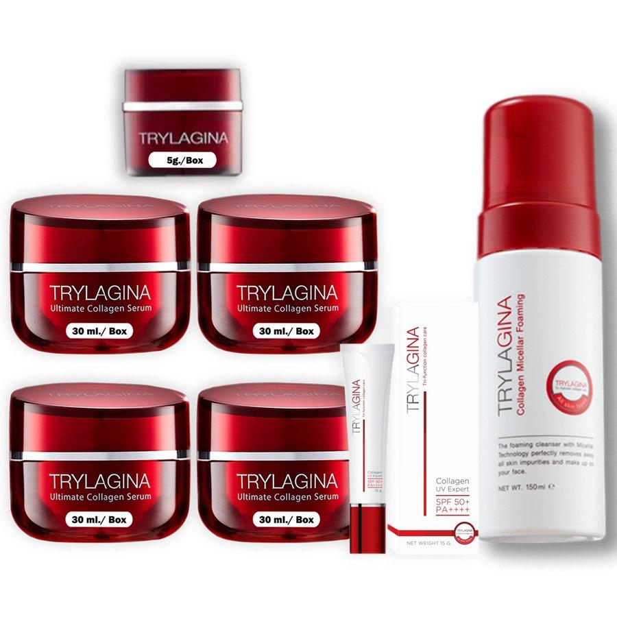 Anti Age Serum Aura Brightening Aging Collagen Trylagina Ultimate Defense 10X Wrinkle (Pack of 7)
