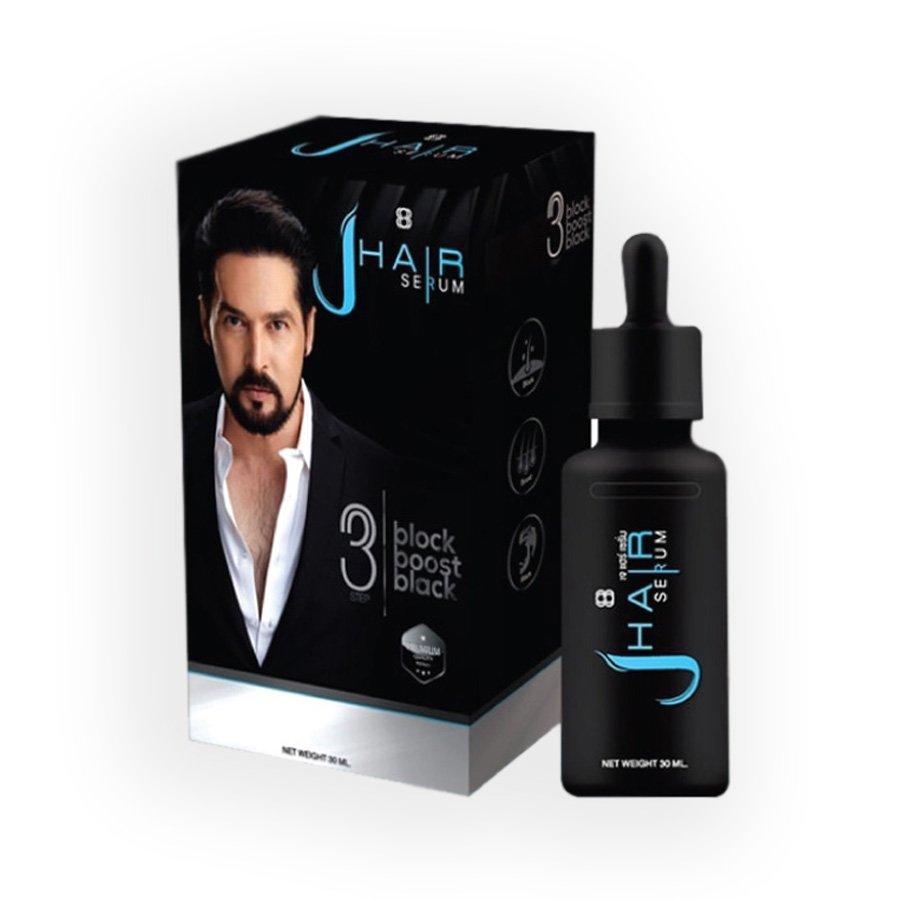 J-Hair Serum Grow Hair Regrowth Regrow Anti Hair Loss Hair Fall Eyebrows Beard Mustache 30ml.