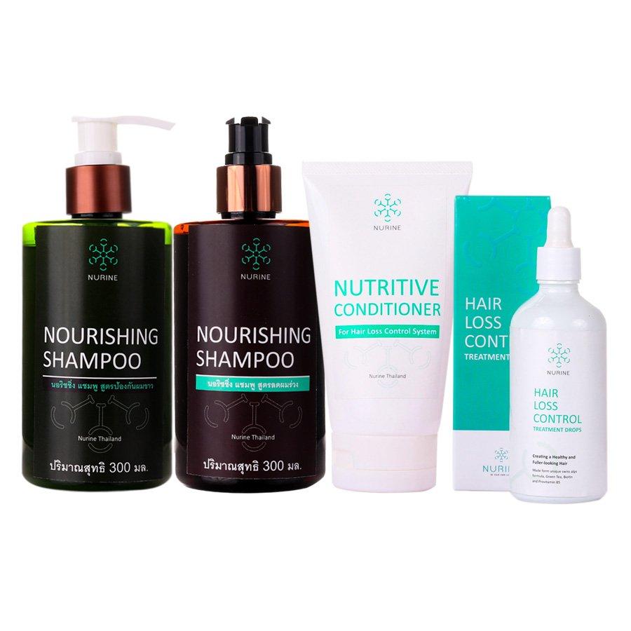 Nurine Regrow & Anti Hair Loss Serum Shampoo Conditioner Full Set Regrowth Natural Safe Organic
